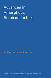 Advances in Amorphous Semiconductors