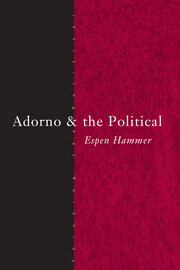 Adorno and the Political - 1st Edition book cover