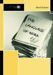The Language of Work - 1st Edition book cover