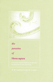 Parasites of Homo sapiens: An Annotated Checklist of the Protozoa, Helminths and Arthropods for which we are Home