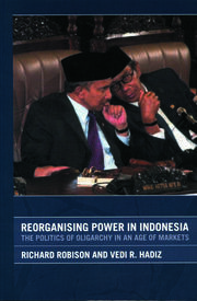 Reorganising Power in Indonesia - 1st Edition book cover