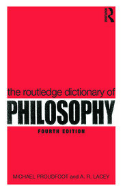 The Routledge Dictionary of Philosophy - 4th Edition book cover