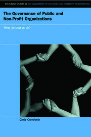 The Governance of Public and Non-Profit Organizations - 1st Edition book cover
