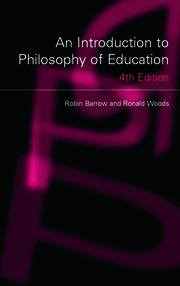 An Introduction to Philosophy of Education - 4th Edition book cover