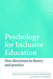 Psychology for Inclusive Education - 1st Edition book cover
