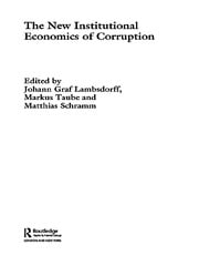The New Institutional Economics of Corruption - 1st Edition book cover