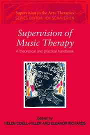 Supervision of Music Therapy - 1st Edition book cover