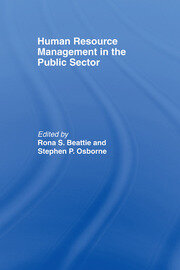 Human Resource Management in the Public Sector - 1st Edition book cover