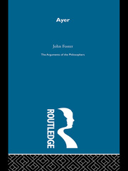 Ayer -Arg Philosophers - 1st Edition book cover
