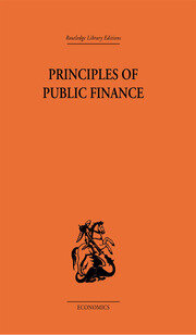 Principles of Public Finance - 1st Edition book cover