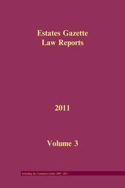 EGLR 2011 Volume 3 and Cumulative Index - 1st Edition book cover