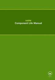HAPM Component Life Manual - 1st Edition book cover