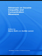 Advances on Income Inequality and Concentration Measures - 1st Edition book cover