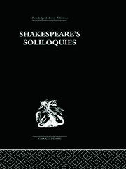 Shakespeare's Soliloquies - 1st Edition book cover