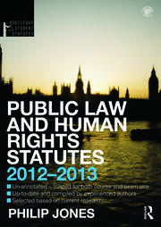 Public Law and Human Rights Statutes - 4th Edition book cover