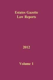 EGLR 2012 Volume 1 - 1st Edition book cover
