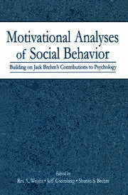 Motivational Analyses of Social Behavior - 1st Edition book cover