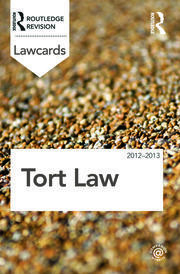 Tort Lawcards 2012-2013 - 8th Edition book cover