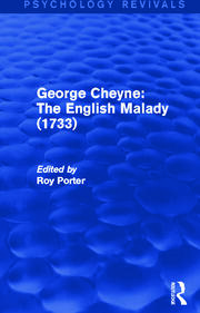 George Cheyne: The English Malady (1733) - 1st Edition book cover