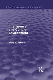 Intelligence and Cultural Environment - 1st Edition book cover
