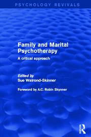 Family and Marital Psychotherapy : A Critical Approach - 1st Edition book cover