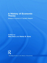 A History of Economic Theory - 1st Edition book cover