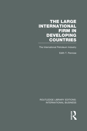 The Large International Firm (RLE International Business) - 1st Edition book cover
