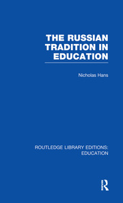 The Russian Tradition in Education - 1st Edition book cover