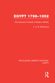 Egypt, 1798-1952 (RLE Egypt) - 1st Edition book cover