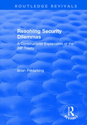 Resolving Security Dilemmas - 1st Edition book cover