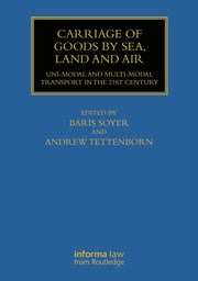 Carriage of Goods by Sea, Land and Air - 1st Edition book cover