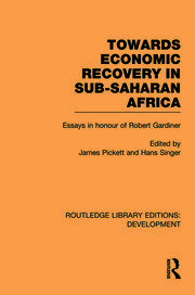 Towards Economic Recovery in Sub-Saharan Africa - 1st Edition book cover