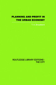 Planning and Profit in the Urban Economy - 1st Edition book cover