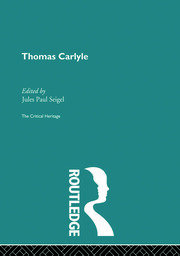 Thomas Carlyle - 1st Edition book cover