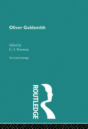 Oliver Goldsmith - 1st Edition book cover