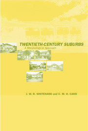 Twentieth-Century Suburbs - 1st Edition book cover