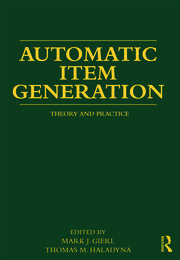 Automatic Item Generation - 1st Edition book cover