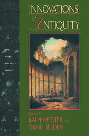 Innovations of Antiquity - 1st Edition book cover