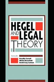 Hegel and Legal Theory - 1st Edition book cover
