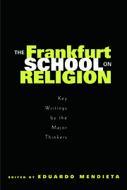 The Frankfurt School on Religion - 1st Edition book cover