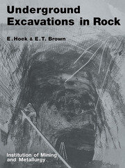 Underground Excavations in Rock - 1st Edition book cover