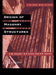 Design of Masonry Structures - 1st Edition book cover