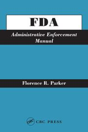 FDA Administrative Enforcement Manual - 1st Edition book cover