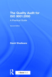 The Quality Audit for ISO 9001:2000 - 2nd Edition book cover