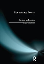 Renaissance Poetry - 1st Edition book cover