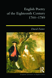 English Poetry of the Eighteenth Century, 1700-1789 - 1st Edition book cover