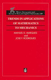 Trends in Applications of Mathematics to Mechanics - 1st Edition book cover