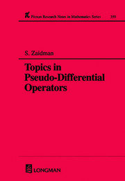 Topics in Pseudo-DIfferential Operators