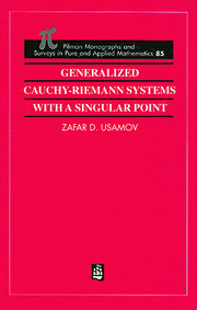 Generalized Cauchy-Riemann Systems with a Singular Point