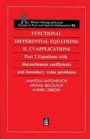 Functional Differential Equations: II. C*-Applications Part 2: Equations with Disontinuous Coefficients and Boundary Value Problems